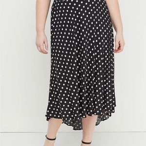 Lane Bryant polka dot high low skirt size 18/20